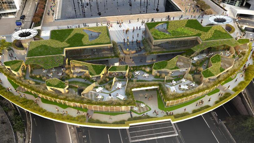 UFLY Drones - photo architecture par drone - La Défense 2 - après