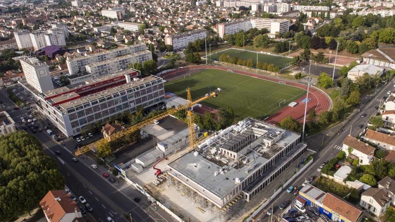 UFLY Drones - photo architecture par drone - Bezons 92 - avant